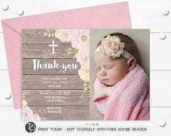 90 Online Christening Thank You Card Template Free Download with Christening Thank You Card Template Free