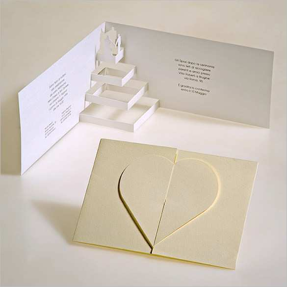 90 Pop Up Wedding Card Template Free PSD File by Pop Up Wedding Card Template Free