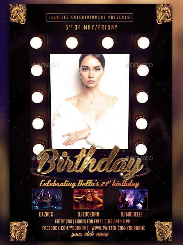90 Printable Birthday Flyer Template Photoshop Now by Birthday Flyer Template Photoshop
