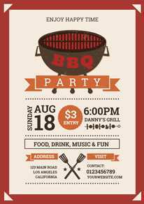 90 Standard Bbq Flyer Template With Stunning Design with Bbq Flyer Template