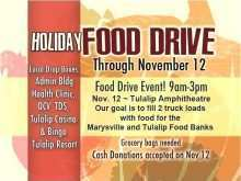 Free Can Food Drive Flyer Template