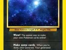 90 Visiting Pokemon Card Template Printable Download with Pokemon Card Template Printable