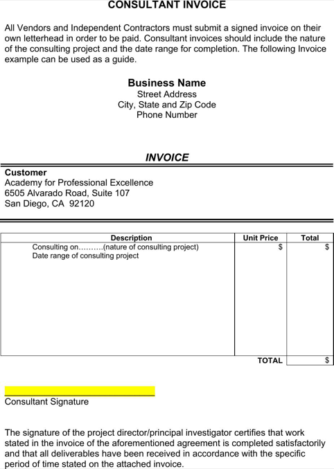 91 Best Business Consulting Invoice Template Maker by Business Consulting Invoice Template