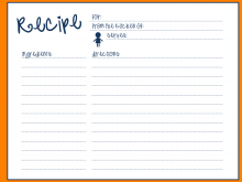 Free 3X5 Recipe Card Template