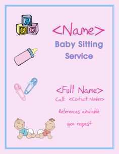 91 Create Babysitting Flyer Free Template Photo with Babysitting Flyer Free Template
