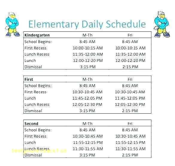 91 Create Class Schedule Template Elementary School with Class Schedule Template Elementary School