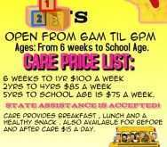 91 Create Daycare Flyer Templates in Word by Daycare Flyer Templates