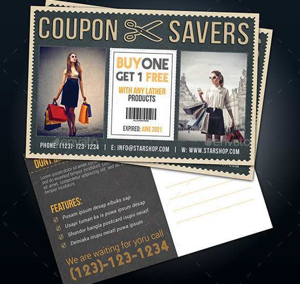 91 Create Postcard Coupon Template With Stunning Design by Postcard Coupon Template
