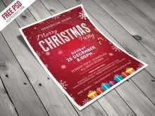 91 Creating Christmas Invitation Flyer Template Free PSD File by Christmas Invitation Flyer Template Free
