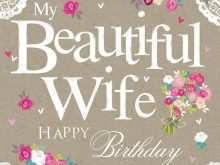 91 Creative Birthday Card Template For Wife Now with Birthday Card Template For Wife