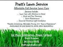 Free Lawn Mowing Flyer Template