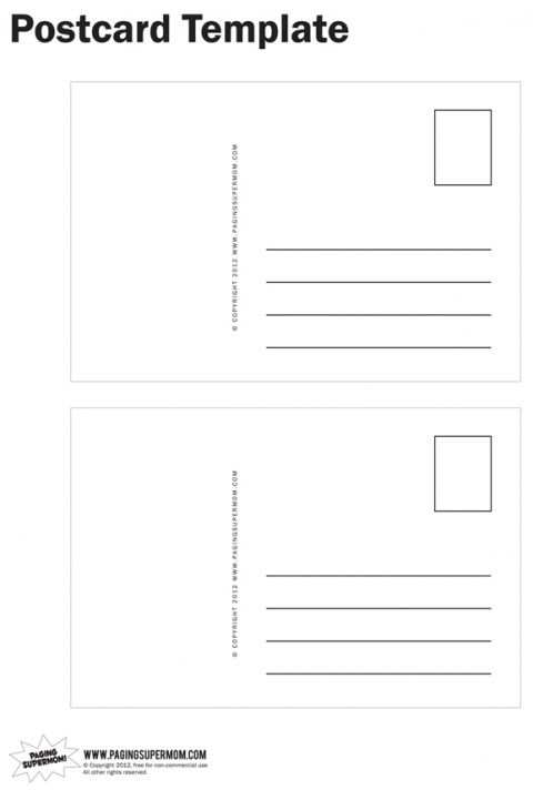91 Creative Postcard Template With Writing Lines Photo with Postcard Template With Writing Lines