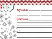 91 Customize Christmas Recipe Card Template For Word Download with Christmas Recipe Card Template For Word