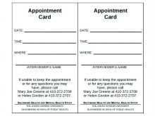 91 Customize Our Free Appointment Card Template Printable With Stunning Design by Appointment Card Template Printable