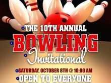 91 Format Bowling Flyer Template Free Now for Bowling Flyer Template Free