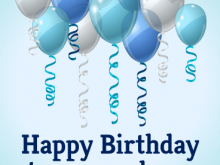 91 Free Birthday Card Template For Nephew Download by Birthday Card Template For Nephew