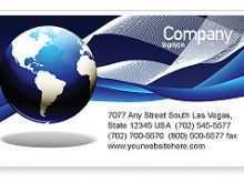 91 Free Printable Business Card Template Globe in Word for Business Card Template Globe