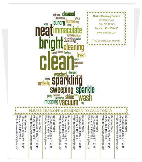 91 How To Create Cleaning Flyers Templates Free Formating for Cleaning Flyers Templates Free