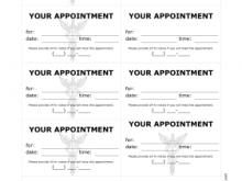Appointment Card Template Printable