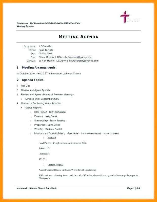 91 Printable Church Conference Agenda Template Maker by Church Conference Agenda Template