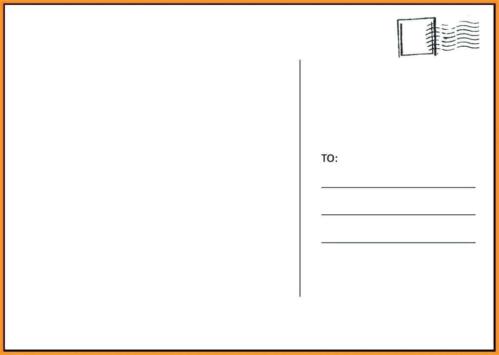 It is a photo of Printable Postcards Templates in writing