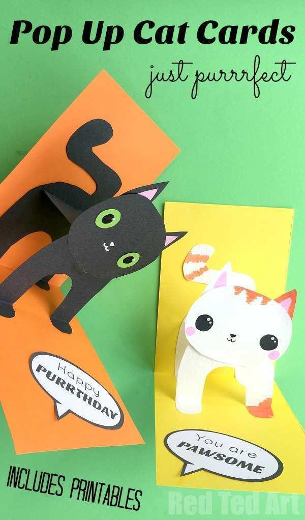 91 Report Pop Up Kitten Card Template Templates with Pop Up Kitten Card Template