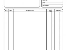 91 Standard Blank Service Invoice Template Pdf Formating with Blank Service Invoice Template Pdf