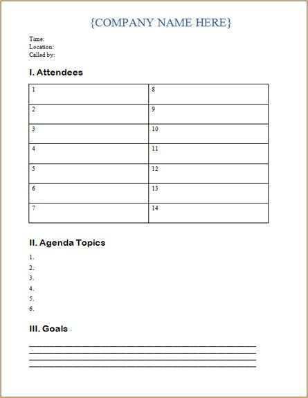 School Agenda Template Free - Cards Design Templates