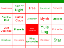 92 Best Christmas Bingo Card Template For Free for Christmas Bingo Card Template