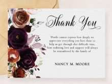 92 Blank Thank You Card Template Funeral for Ms Word by Thank You Card Template Funeral