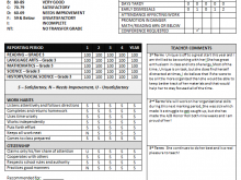 92 Creating Grade 8 Report Card Template in Word for Grade 8 Report Card Template