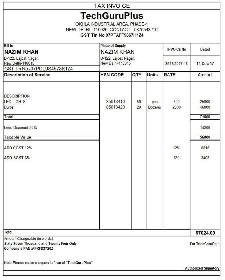 92 Creating Gst Tax Invoice Format Pdf in Word with Gst Tax Invoice Format Pdf