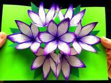 92 Creative 3D Flower Pop Up Card Tutorial Step By Step for Ms Word by 3D Flower Pop Up Card Tutorial Step By Step
