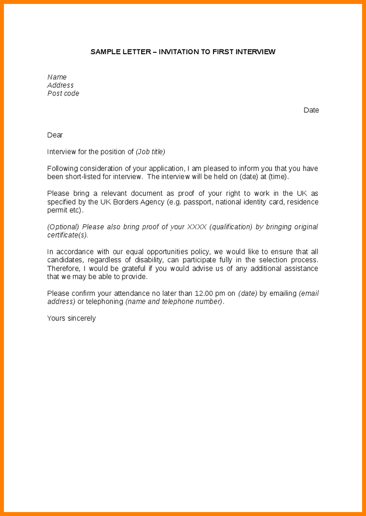 92 Customize Our Free Interview Schedule Letter Template With Stunning Design by Interview Schedule Letter Template
