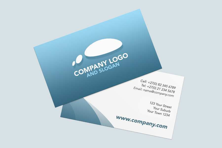92 Format 2 Sided Business Card Template Free PSD File with 2 Sided Business Card Template Free