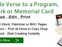 92 Free Card Verse Template Formating with Card Verse Template