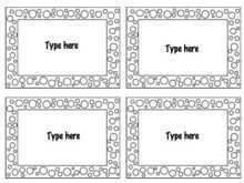 92 Free Printable Card Template 4 Per Page Photo for Card Template 4 Per Page