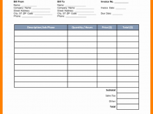 92 Report Construction Job Invoice Template for Ms Word by Construction Job Invoice Template