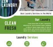 Laundry Flyers Templates