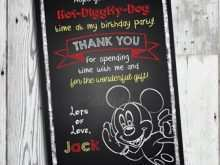 92 The Best Mickey Thank You Card Template Layouts by Mickey Thank You Card Template
