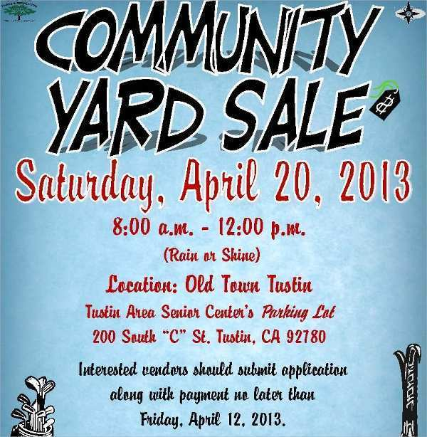 92 Visiting Community Yard Sale Flyer Template Now with Community Yard Sale Flyer Template