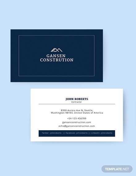 92 Visiting Construction Business Card Template Word Templates for Construction Business Card Template Word