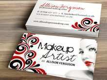 Makeup Artist Name Card Template