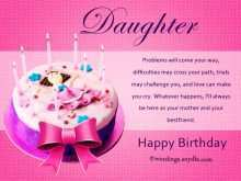 Birthday Card Template Daughter