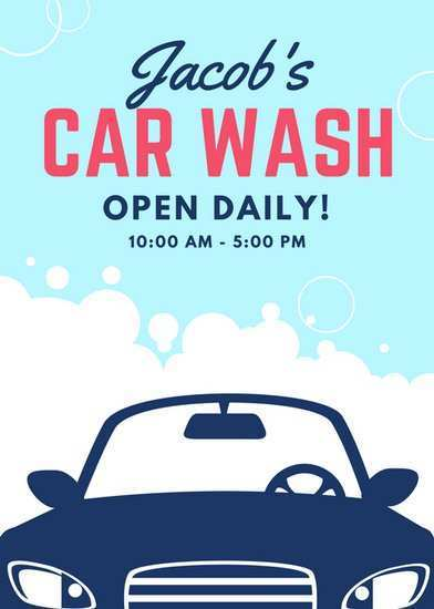 93 Blank Car Wash Flyers Templates Layouts by Car Wash Flyers Templates