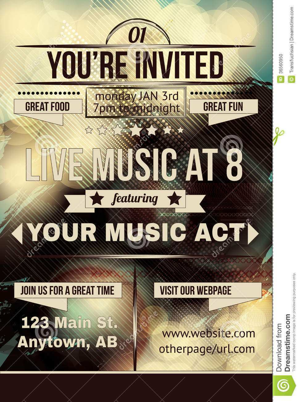 93 Create Birthday Party Invitation Flyer Template Layouts with Birthday Party Invitation Flyer Template