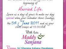 Invitation Card Format Marriage