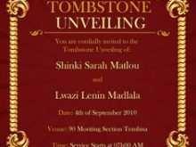 93 Create Invitation Cards Templates Unveiling Tombstone in Word with Invitation Cards Templates Unveiling Tombstone