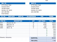 Sales Tax Invoice Format 2019