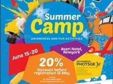 93 Create Summer Camp Flyer Template Templates with Summer Camp Flyer Template